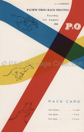 Pacific Frog Race Meeting' betting card