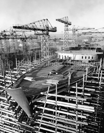 CANBERRA at Harland & Wolff shipyard