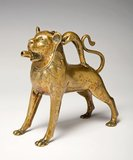 Saxon aquamanile in the shape of a lion