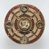 Anglo-Saxon gold and garnet brooch