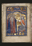 Vegetius Receiving Prince Edward (King Edward I), folio 2 verso