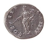 Roman denarius, Pax with cornucopiae and an olive branch