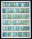 Faience wall tiles from the step pyramid, Saqqara