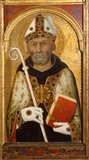 St Augustine, with an Angel above, by Simone Martini