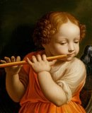 Child Angel Playing a Flute, by Bernardino Luini