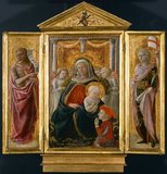 Virgin & Child, John the Baptist & Saints, by Filippo Lippi