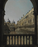 Interior Court of the Doge's Palace, by Canaletto
