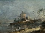 View Near Venice, by Francesco Guardi