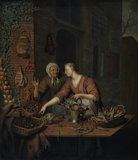 The market stall, by Willem van Mieris