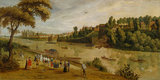The Thames at Richmond, with the Old Royal Palace