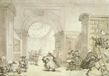 Old University Library, Cambridge, by T. Rowlandson