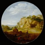 Classical Landscape with Rocks, by Bartholomeus Breenbergh