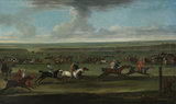 A Race on the Round Course at Newmarket, by John Wootton