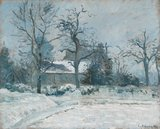 Piette's House at Montfoucault: Snow Effect, by Pissarro