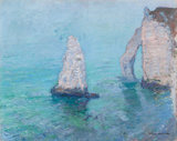 The Rock Needle and Porte d' Aval, Etretat, by Monet