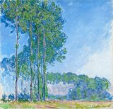 Les Peupliers (Poplars), by Monet