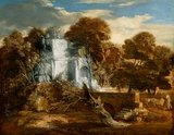 Landscape with herdsman and cows, by Gainsborough