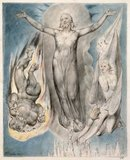 Christ Placed on the Pinnacle of the Temple, by William Blake