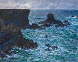 Rocks at Port-Coton, the Lion Rock, Belle-Île, by Monet