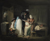 Visit to the child at nurse, by George Morland