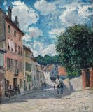A Street, possibly in Port-Marly, by Sisley