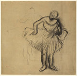 Study of Two Standing Dancers, by Degas