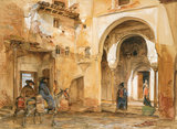 Courtyard of the Alhambra, by John Frederick Lewis
