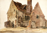 A ruined house at Lincoln, by Peter De Wint