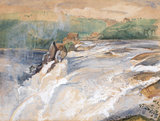 Falls of the Rhine, Neuhausen, by John Frederick Lewis