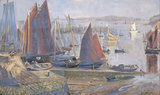 Return of the Sardine Boats, Dournenez, by Goetze