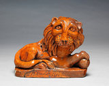 Pill Pottery Recumbent Lion