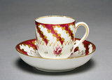 Cup and Saucer, by the Chelsea Porcelain Factory