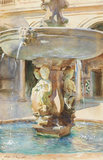 The Spanish Fountain, 1912, by Sargent