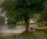 The Charente at Port-Bertaud, by Courbet