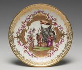 Meissen plate painted with chinoiseries