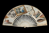 English trompe l'oeil folding fan