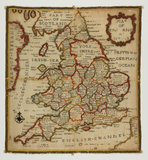 Map sampler of England and Wales, by Ann Seaton
