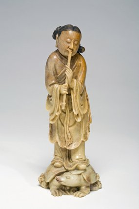 Female Figure Standing Upon a Horned Tortoise, Chinese