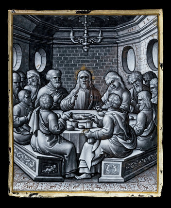 Limoges enamel, The Last Supper, by Pierre Reymond