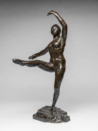 Dancer, Fourth Position in Front on the Left Leg, by Degas