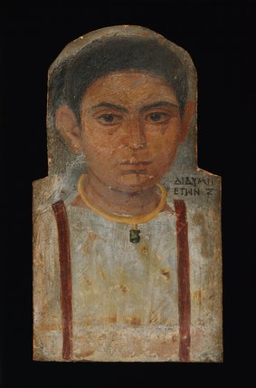 Painted wooden mummy portrait of Didyma