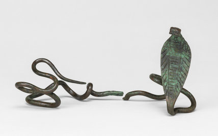Uraeus (cobra) wand from the Ramusseum at Thebes