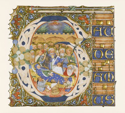 The Dormition of the Virgin, from a Gradual