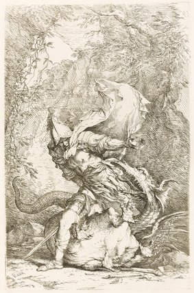 Jason and the Dragon, by Salvator Rosa