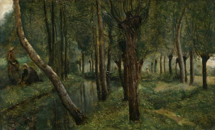 The Dyke, by Corot