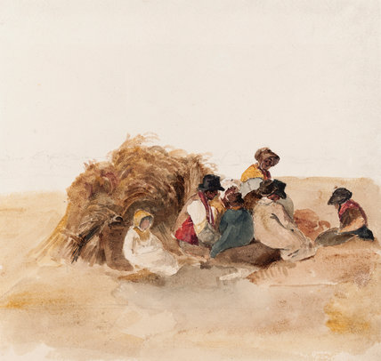 Harvesters Resting, by Peter De Wint