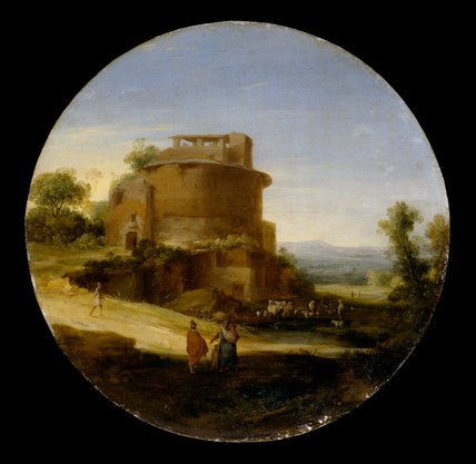 Classical Landscape with Ruins, by Bartholomeus Breenbergh