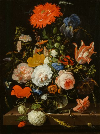 Flower Piece By Abraham Mignon By Mignon Abraham At