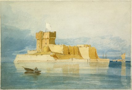 Fort St. Marcouf, near Quineville, by John Sell Cotman
