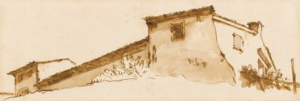 Study of a building with a vine, by Giovanni Battista Tiepolo